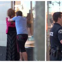 Expérience dans la rue : il frappe sa copine devant les policiers et filme leur réaction