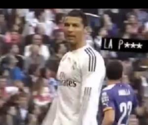 Cristiano Ronaldo s'en prend à Gareth Bale, le 10 janvier 2015 pendant Real Madrid vs Espanyol Barcelone