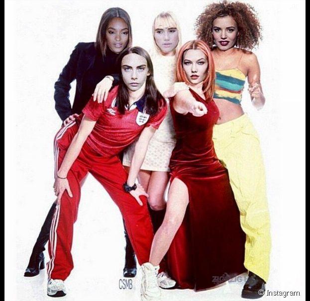 Cara Delevingne, Suki Waterhouse, Karlie Kloss, Jourdan Dunn et Georgia May Jagger transformées en Spice Girls sur Instagram