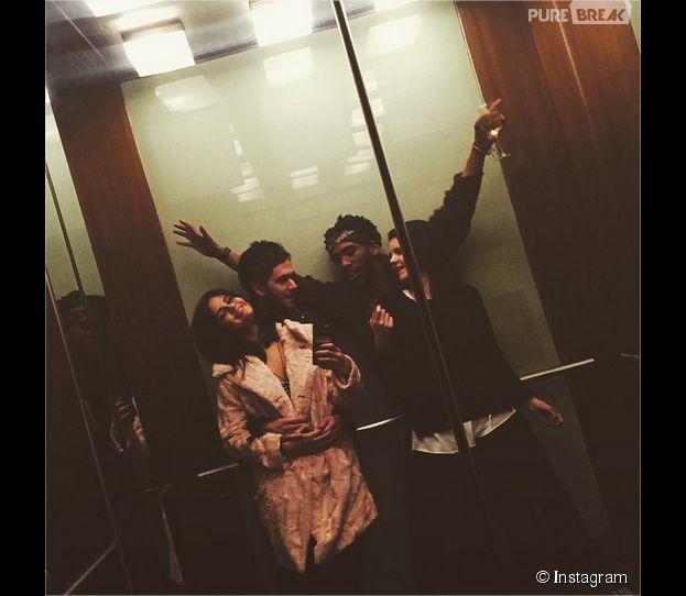 Selena Gomez et Zedd enlacés sur une photo postée sur Instagram le 24 janvier 2015