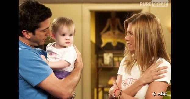Friends : Ross et Rachel avec leur fille Emma