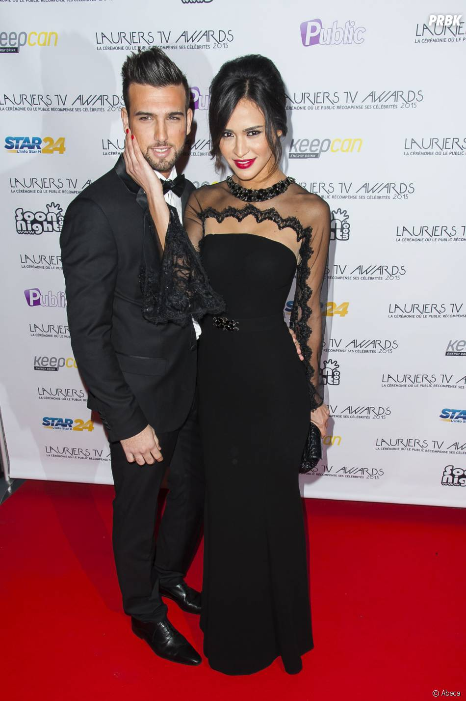 Leila Ben Khalifa et Aymeric Bonnery amoureux aux Lauriers TV Awards