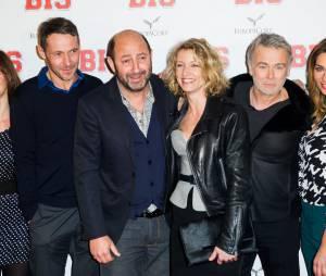 Kad Merad, Franck Dubosc, Ariane Brodier et Alexandra Lamy l'avant-première de Bis, le 10 février 2015 à Paris