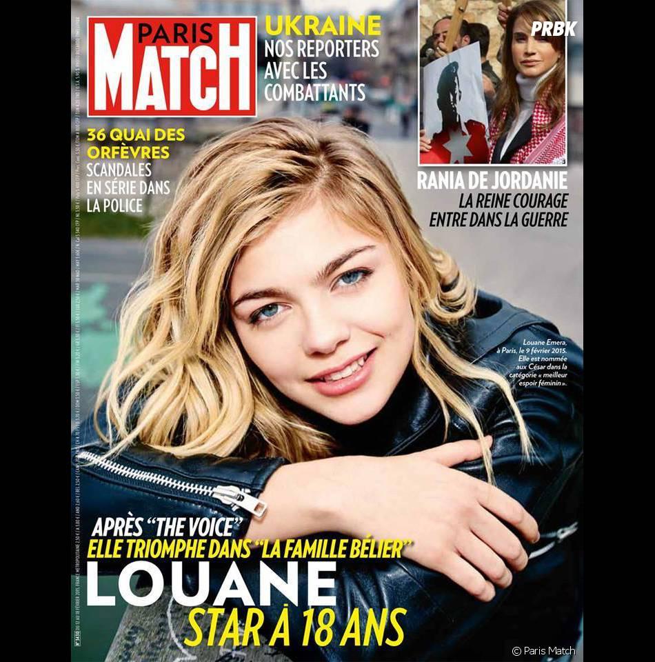 Louane en Une du magazine Paris Match