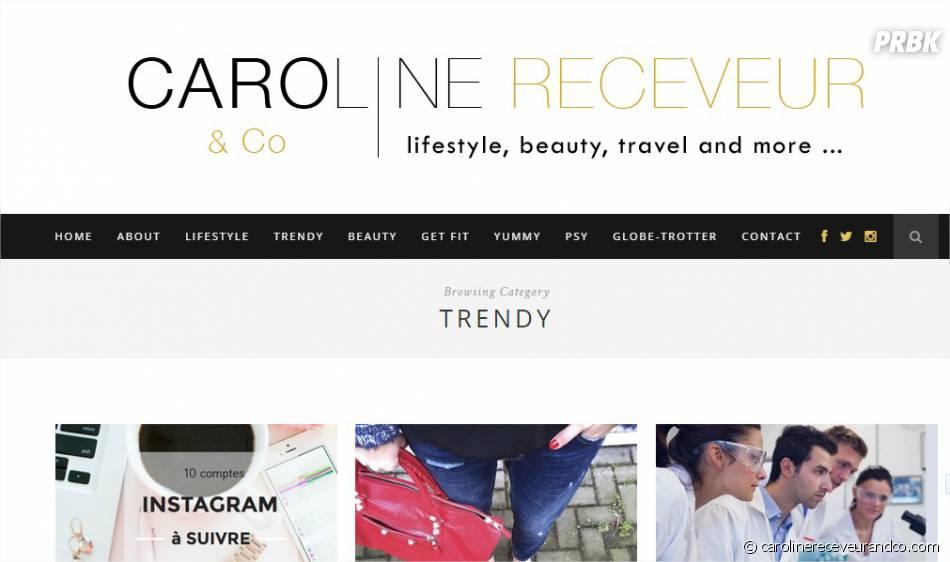 Caroline Receveur à la tête du blog lifestyle, beauté, food Carolinereceveurandco.com