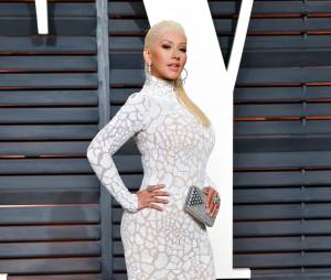 Christina Aguilera à l'after party des Oscars 2015 organisée par Vanity Fair le 22 février
