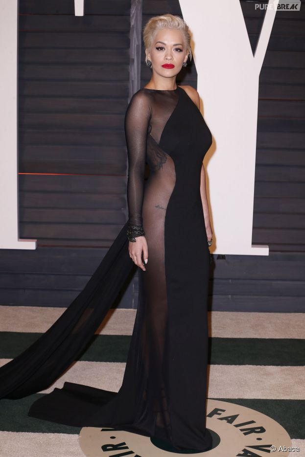 Rita Ora à l'after party des Oscars 2015 organisée par Vanity Fair le 22 février