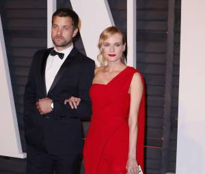 Joshua Jackson et Diane Kruger à l'after party des Oscars 2015 organisée par Vanity Fair le 22 février