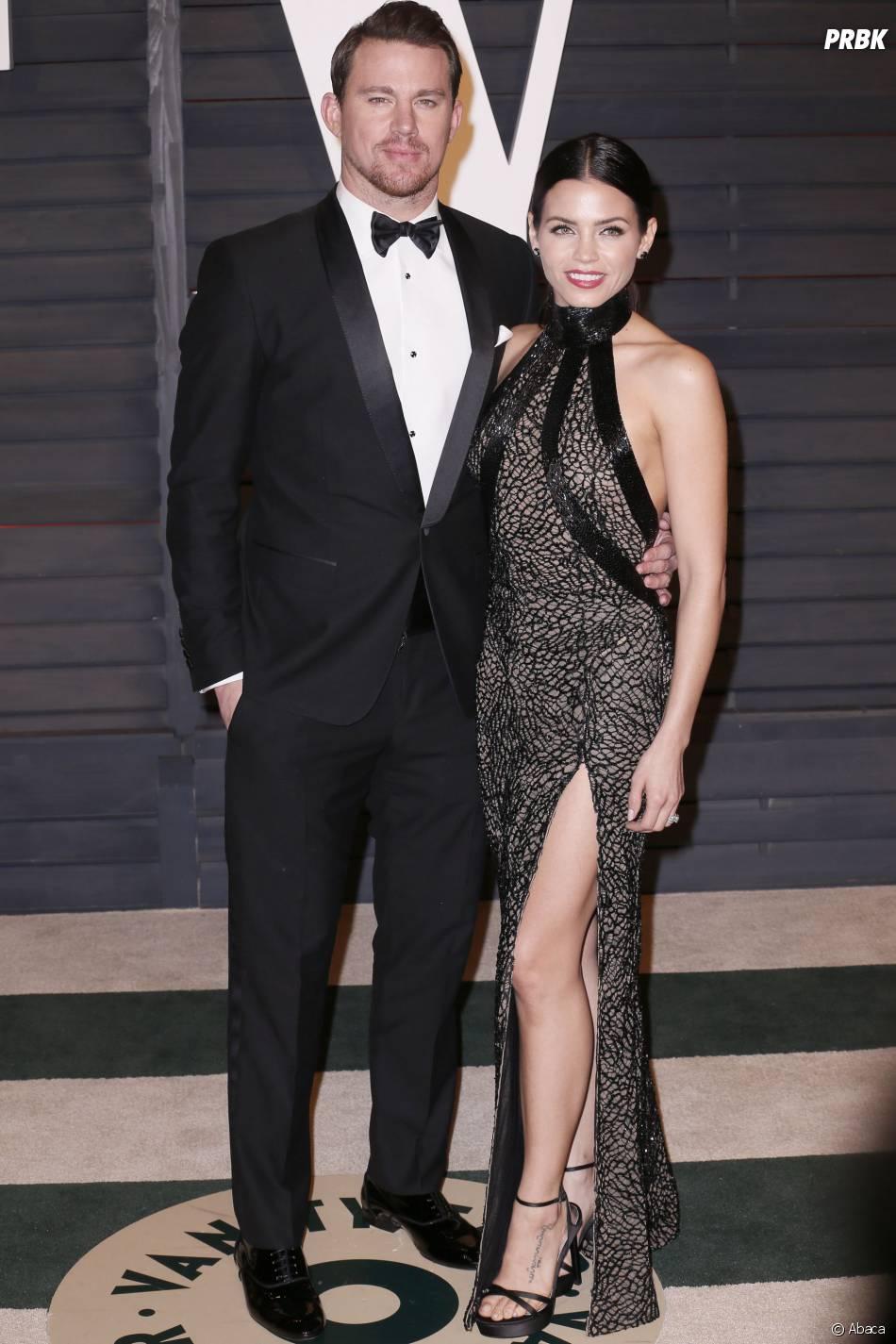 Channing Tatum et Jenna Dewan-Tatum à l'after party des Oscars 2015 organisée par Vanity Fair le 22 février