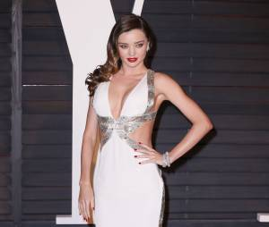 Miranda Kerr sexy à l'after party des Oscars 2015 organisée par Vanity Fair le 22 février