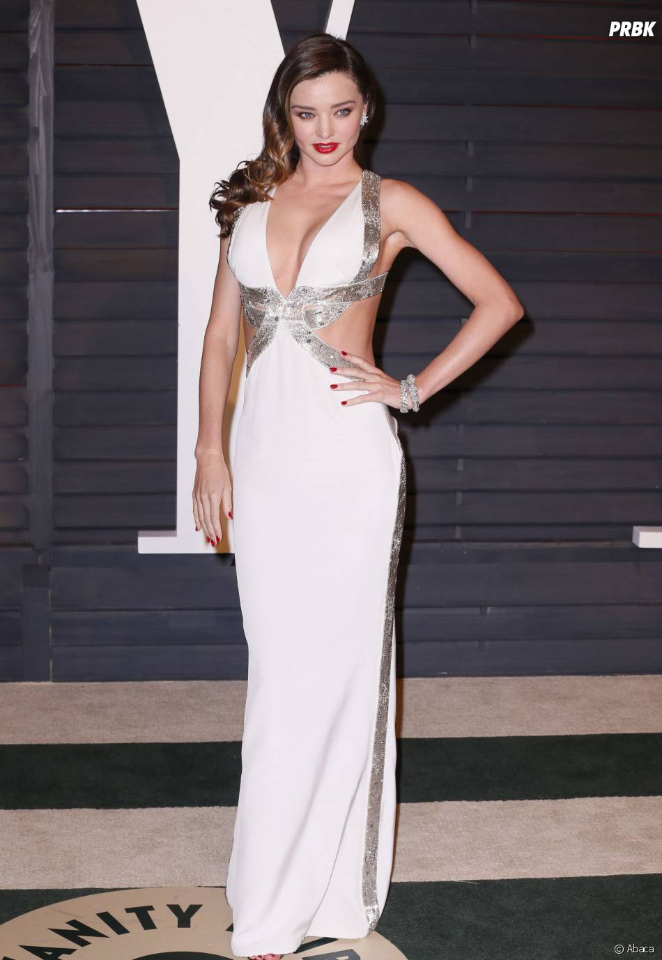 Miranda Kerr sexy à l'after party des Oscars 2015 organisée par Vanity Fair le 22 février