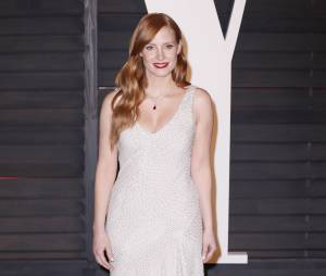 Jessica Chastain en H&M à l'after party des Oscars 2015 organisée par Vanity Fair le 22 février