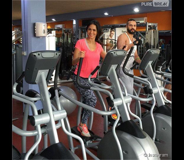 Leila Ben Khalifa : séance de sport avec Wissam Hanna