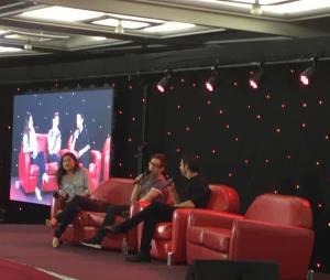 Jenna Ushkowitz et Kevin McHale à la convention Gleek Reunion les 21 et 22 mars 2015 à Paris