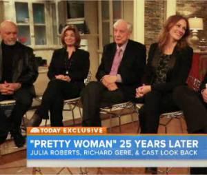 Pretty Woman : Julia Roberts, Richard Gere et tout le casting du film réunis sur le plateau du Today Show de NBC, le 23 mars 2015