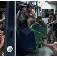 Seul dans le métro face à une invasion zombie : la caméra cachée TROP flippante !