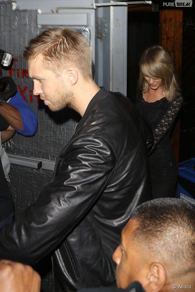 Taylor Swift et Calvin Harris : soirée en couple au concert des soeurs Haim, le 2 avril 2015 à Los Angeles