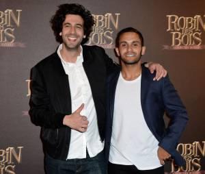 Robin des bois, la véritable histoire : le duo Max Boublil et Malik Bentalha à l'avant-première du film à Paris le dimanche 12 avril 2015