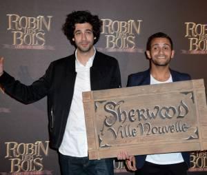 Robin des bois, la véritable histoire : Max Boublil et Malik Bentalha à l'avant-première du film à Paris le dimanche 12 avril 2015