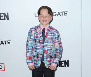 Mason Vale Cotton sur le tapis rouge de la série Mad Men en 2013