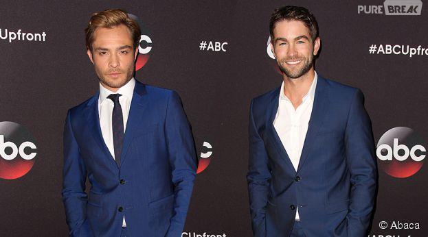 Ed Westwick et Chace Crawford aux Upfronts de ABC le 12 mai 2015
