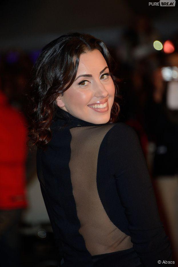 Maude sur le tapis rouge des NRJ Music Awards, le 14 décembre 2014 à Cannes