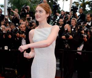 Emma Stone sublime sur le tapis rouge, le 15 mai 2015 au festival de Cannes