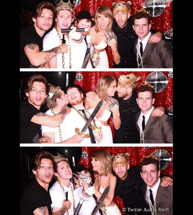 Taylor Swift embrasse Calvin Harris et retrouve Harry Styles aux Billboard Music Awards 2015