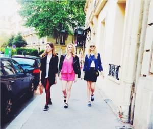 Candice Accola, Kayla Ewell et une amie à Paris en mai 2015