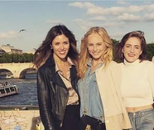 Candice Accola et Kayla Ewell à Paris avec leurs amies en mai 2015
