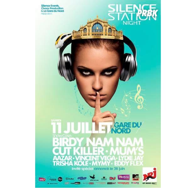"""La """"Silence Station Night"""", le 11 juillet 2015 à la Gare du Nord à Paris"""