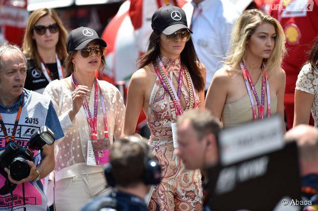Kendall Jenner, Bella Hadid et Gigi Hadid au Grand Prix de Monaco le 24 mai 2015