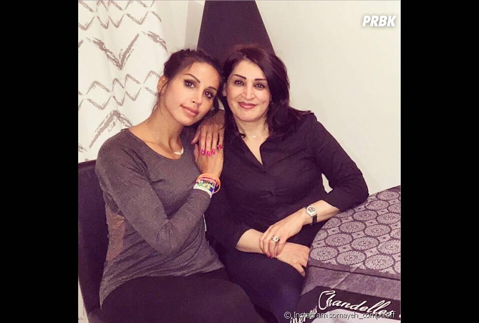 Somayeh (Les Anges 7) avec sa mère sur Instagram