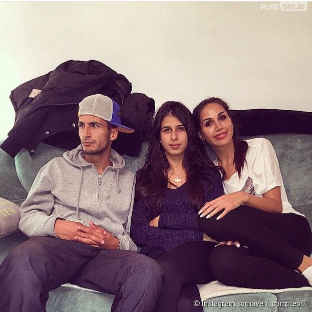 Somayeh (Les Anges 7) avec son frère et sa soeur sur Instagram