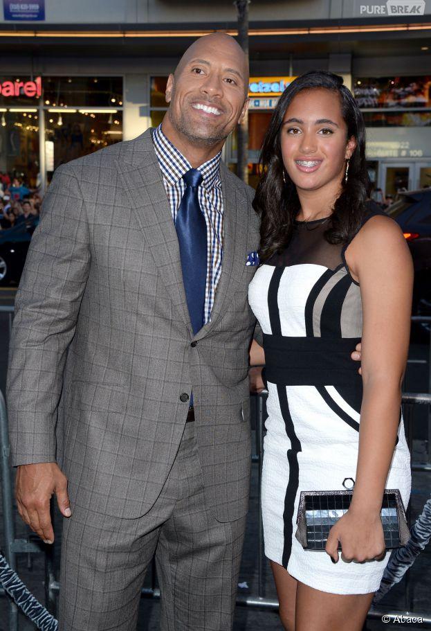 Dwayne Johnson et sa fille Simone Alexandra à l'avant-première de San Andreas le 26 mai 2015