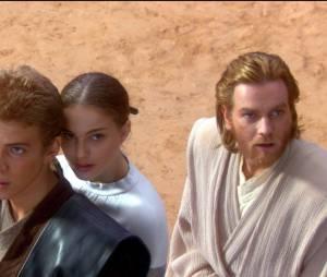 Star Wars : Hayden Christensen, Natalie Portman et Ewan McGregor dans un des films de la seconde trilogie