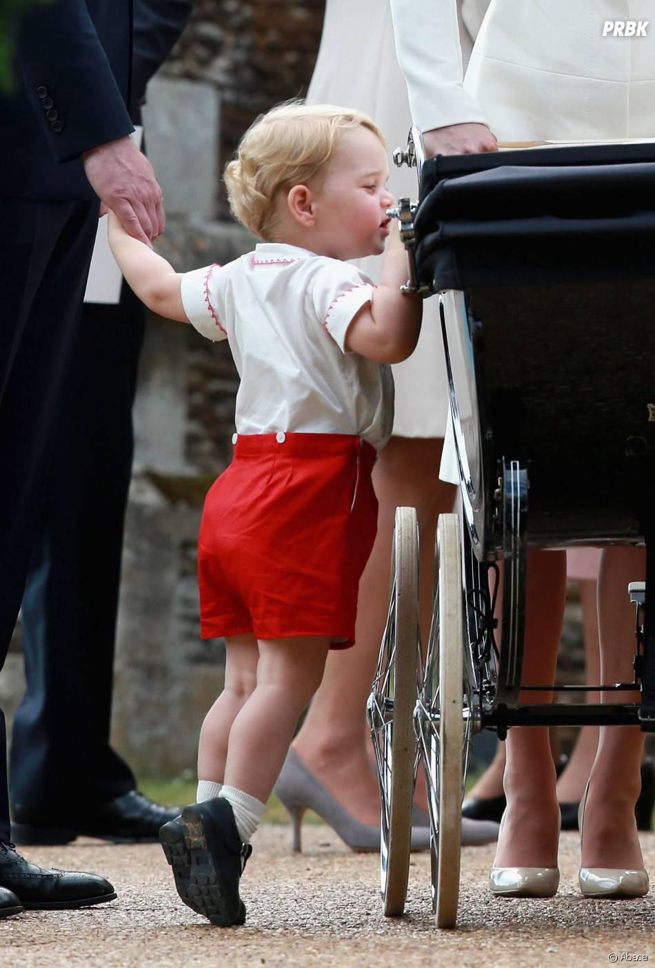 Prince George au baptême de la Princesse Charlotte, le 5 juillet 2015 en Angleterre