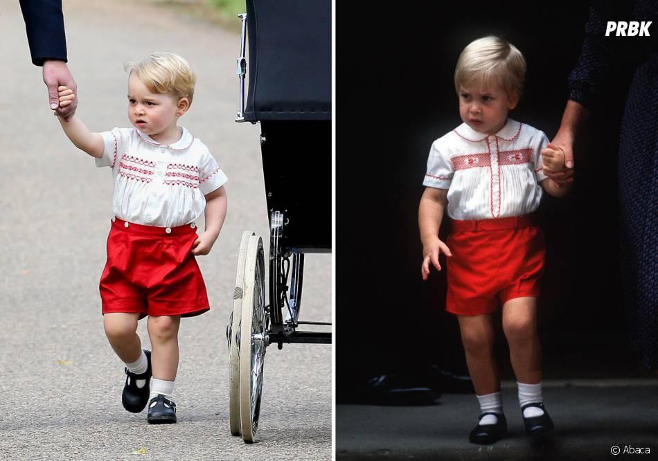 Prince George au baptême de la Princesse Charlotte, le 5 juillet 2015 en Angleterre, est le sosie de William en 1984