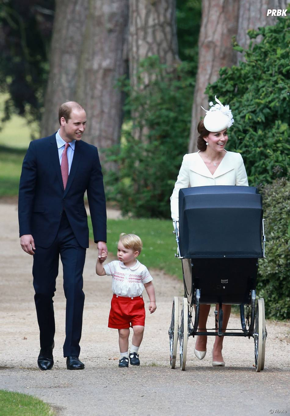 au baptême de la Princesse Charlotte, le 5 juillet 2015 en Angleterre