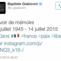 Baptiste Giabiconi nul en histoire ? Son tweet du 14 juillet humilié sur Twitter