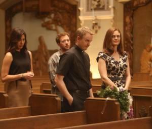Emily Deschanel et son mari David Hornsby dans un épisode de la saison 9 de Bones