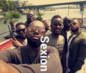 Maitre Gims, Black M, Lefa et toute la Sexion d'Assaut réunis sur Instagram, le 12 août 2015