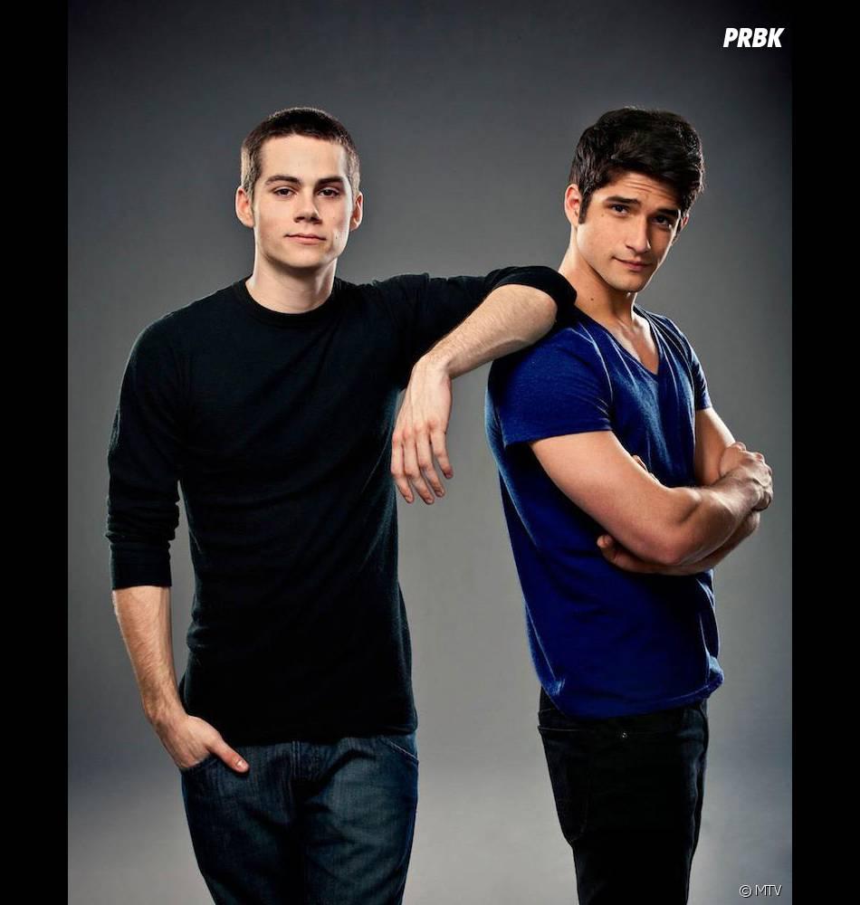 Dylan O'Brien et Tyler Posey sur une photo de la saison 1 de Teen Wolf