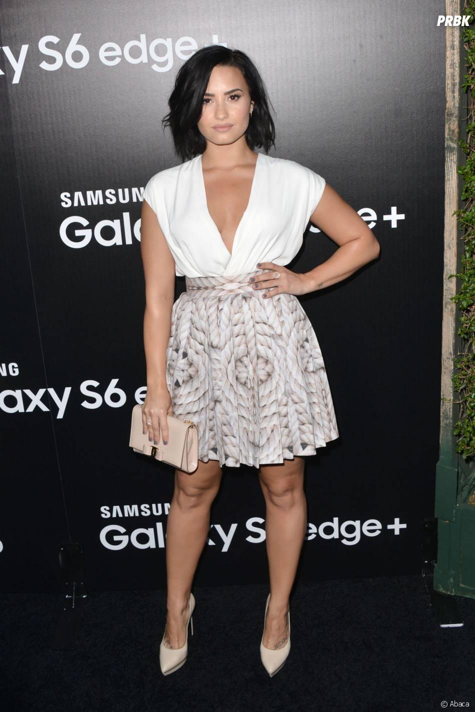 Demi Lovato hot pour une soirée Samsung, à Los Angeles, le 18 août 2015