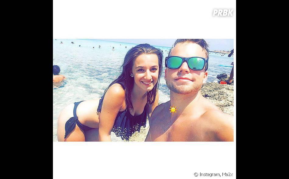 Ma2x : selfie sexy avec sa copine Margot Malmaison sur Instagram