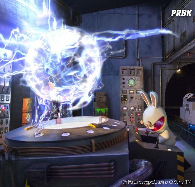 L'attraction La machine à Voyager dans le temps avec les Lapins Crétins a ouvert ses portes le 21 décembre 2013 au Futuroscope