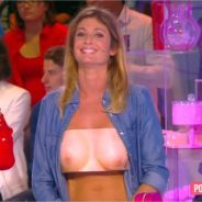 Caroline Ithurbide montre ses seins pour la bonne cause dans le Grand 8 !