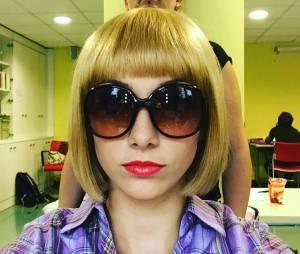 Delphine Wespiser en blonde fatale sur Twitter, le 18 octobre 2015