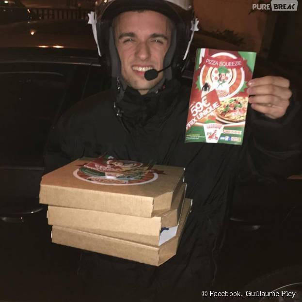 Squeezie en livreur de pizza grâce à Guillaume Pley, le 19 octobre 2015