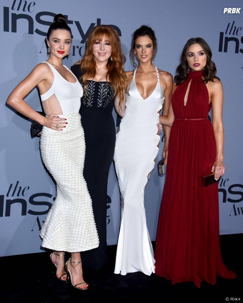 Miranda Kerr, la maquilleuse Charlotte Tilbury, Alessandra Ambrosio et Olivia Culpo aux InStyle Awards le 26 octobre 2015 à Los Angeles